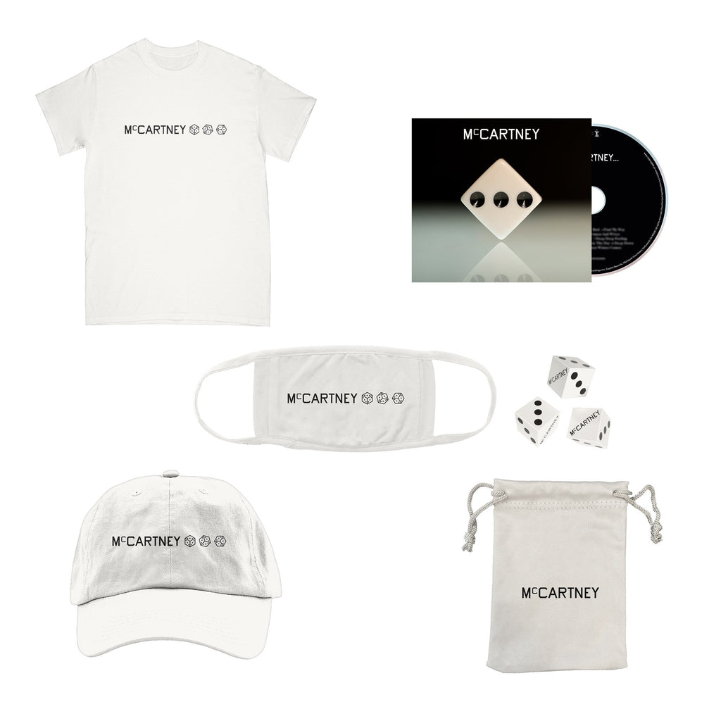 Paul McCartney | McCartney III - Deluxe Edition White CD + dice set + T-Shirt + hat + mask