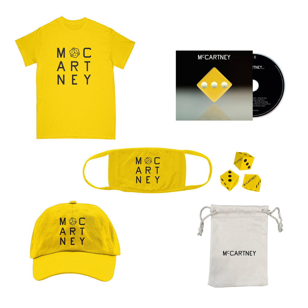 Paul McCartney | McCartney III - Deluxe Edition Yellow CD + dice set + T-Shirt + hat + mask