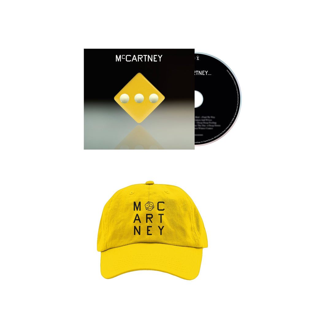 Paul McCartney | McCartney III - Deluxe Edition Yellow CD and Hat
