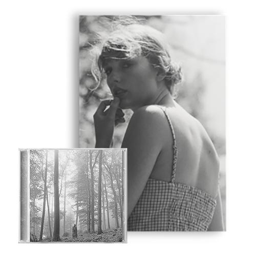 "Taylor Swift | folklore - 1. the ""in the trees"" edition deluxe cd + the ""meet me behind the mall"" lithograph"