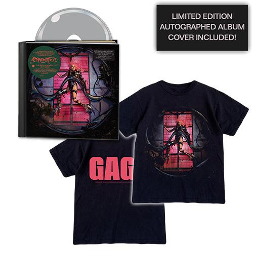 Lady Gaga | CHROMATICA Deluxe CD + Cover T-Shirt + Autographed Album Cover