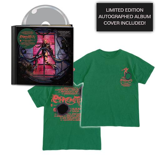 Lady Gaga | CHROMATICA Deluxe CD + Tracklist T-Shirt + Autographed Album Cover