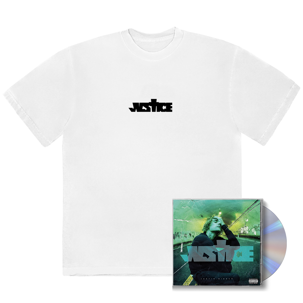 Justin Bieber | Justice Cross T-shirt + Standard CD