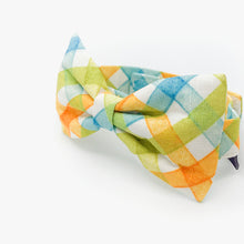Load image into Gallery viewer, Bowtie (0802-01 Orange / Blue Checks)