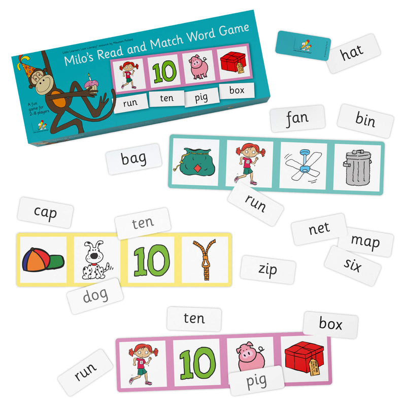 Milo's Read and Match Word Game