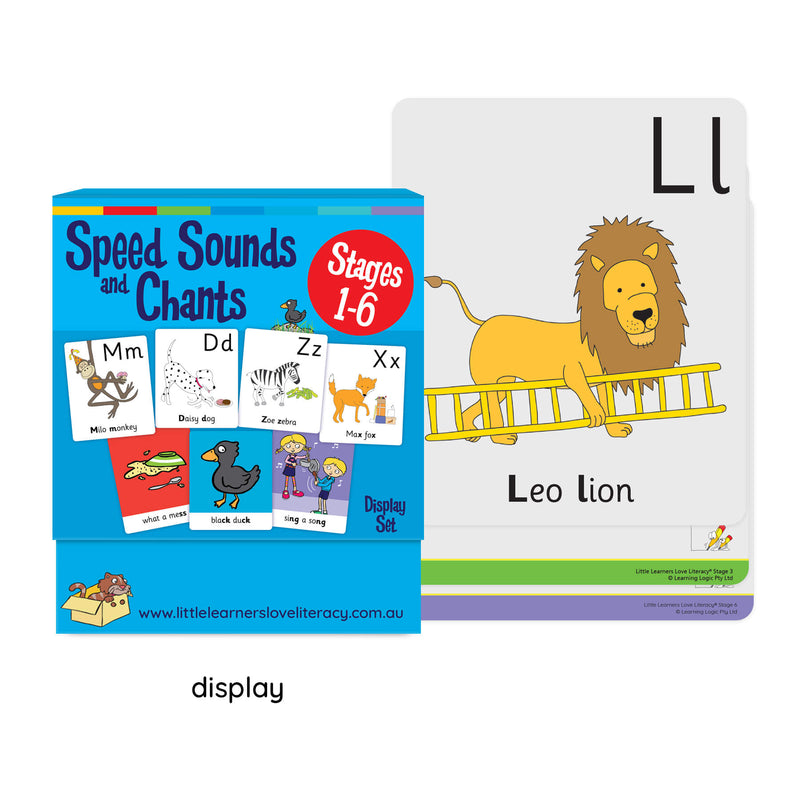Speed Sounds and Chants Cards Stages 1-6 Display Set