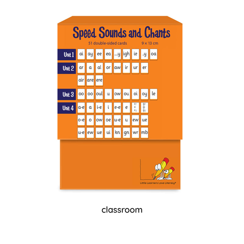 Speed Sounds and Chants Cards Stage 7 Classroom Set