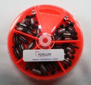 ASSORTED RUBBER CORE SINKERS  - DIAL BOX