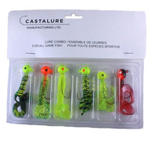 Load image into Gallery viewer, 3/8 oz JIG - DOUBLE & SINGLE TAIL GRUBS ASSORTED