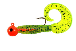 3/8 oz JIG - DOUBLE & SINGLE TAIL GRUBS ASSORTED