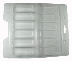 Clam shell packaging trays (Pack of 50) - Plastic packaging blisters - Brand new