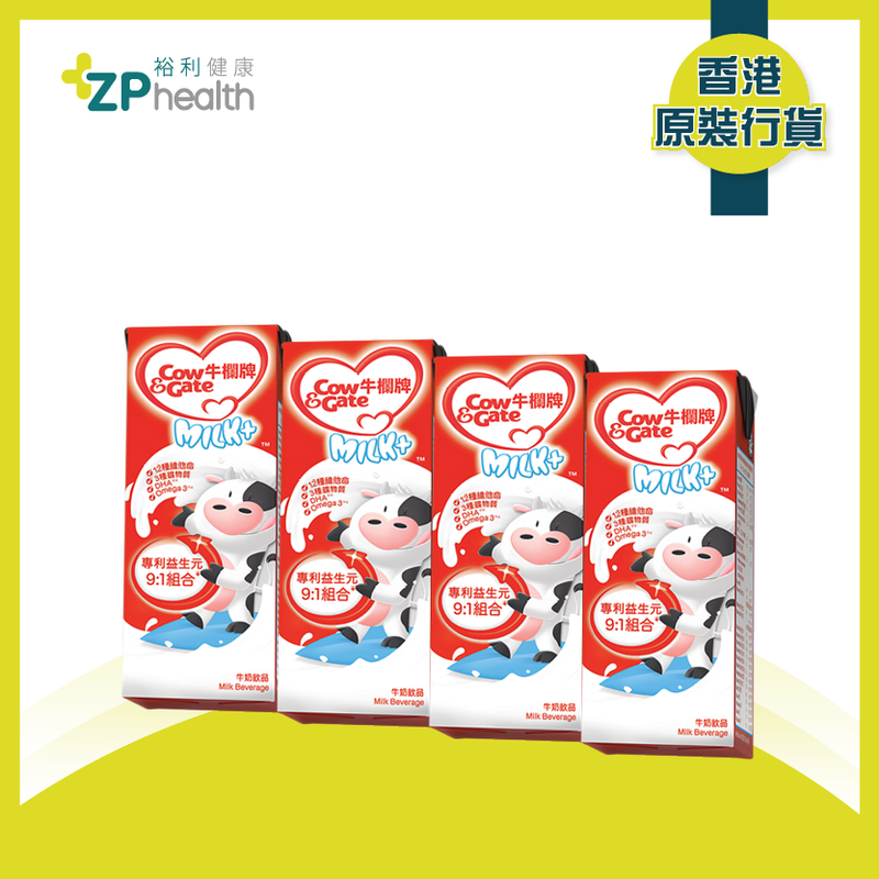 COW & GATE MILK+ 180ML*4 2019 [HK Label Authentic Product]