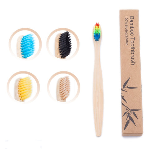 1pcs Kids Bamboo Toothbrush Eco Friendly Children Toothbrush Natural Charcoal  Tooth Brush Bamboo Wooden Handle Teethbrush