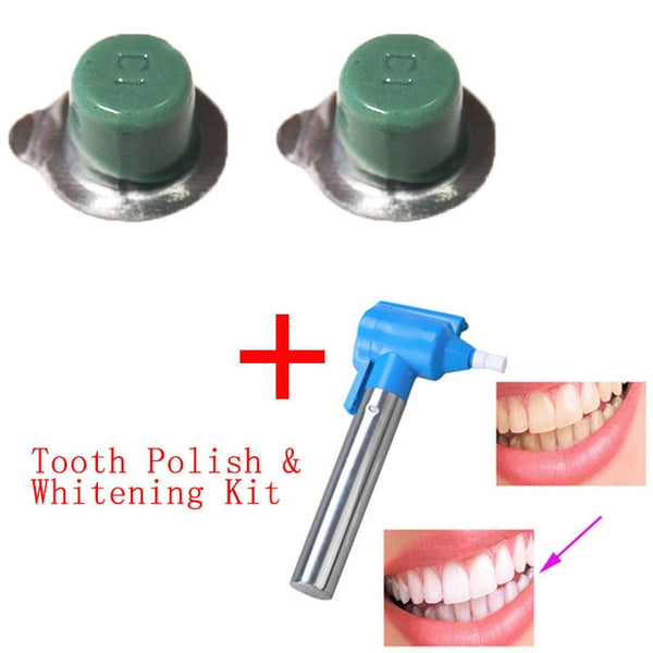 3pcs/set Professional Polishing Whitening Teeth Burnisher Polisher Whitener Stain Remover with 2 pcs Polishing Paste