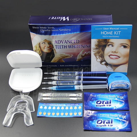 Professional Teeth Whitening Kit Mouth Tray Gel Strips White Tooth Bleach Blanchiment Dent Tanden Bleken Blanqueador Dental Care