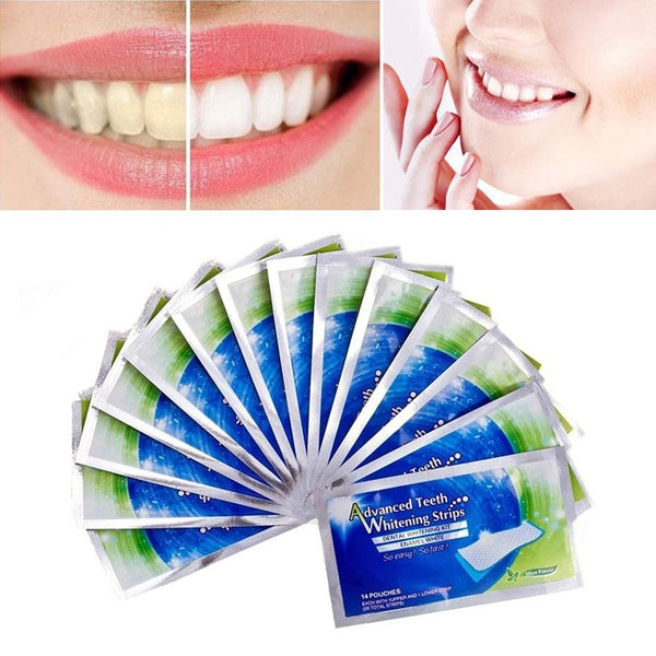 2pcs/pack Dental Teeth White Strips White Gel Oral Hygiene Care Kit Whitening Bleaching Tools Stain Removal Perfect Dentist TSLM