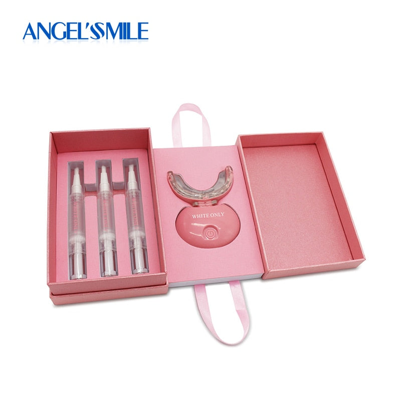 Angel Smile New Teeth Whitening Kit Dental Waterproof 20-LED Blue Laser Tooth Bleaching Gel for Oral Hygiene Stain Removal