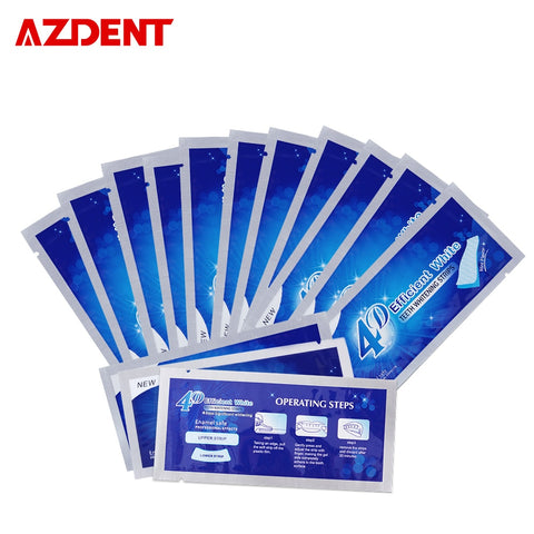 AZDENT 14 Pouches/28 Strips 3D Teeth Whitening Strips Updated 4D Whitestrips Tooth Whitener Whitening Bleaching Advanced Strips