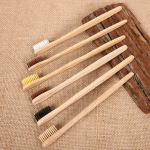 10PCS Environmental Personal Bamboo Charcoal Toothbrush For Oral Health Low Carbon Medium Soft Bristle Wood Handle Toothbrush