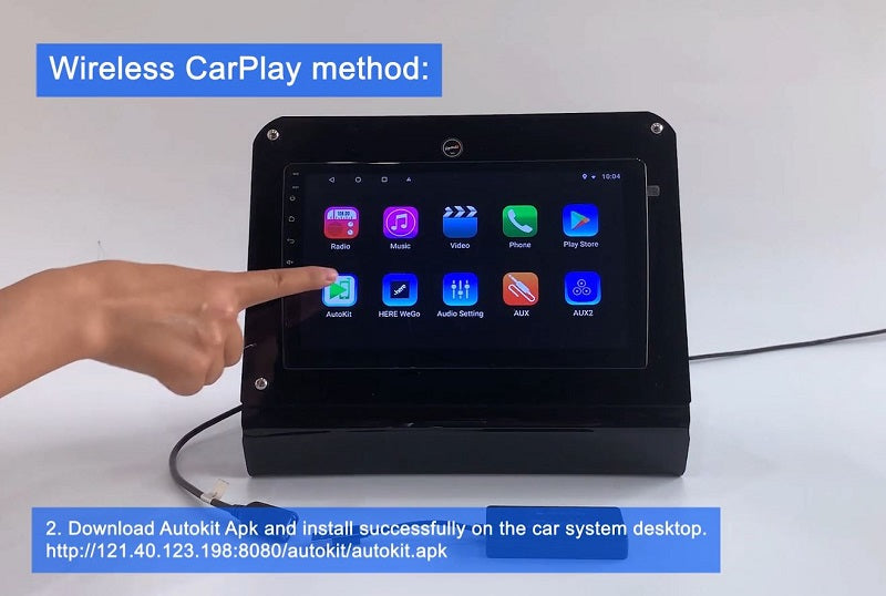 2. Download Autokit.apk and install successfully on the car system desktop.