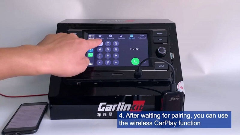 4.After waiting for paiting, you can use the wireless CarPlay function.