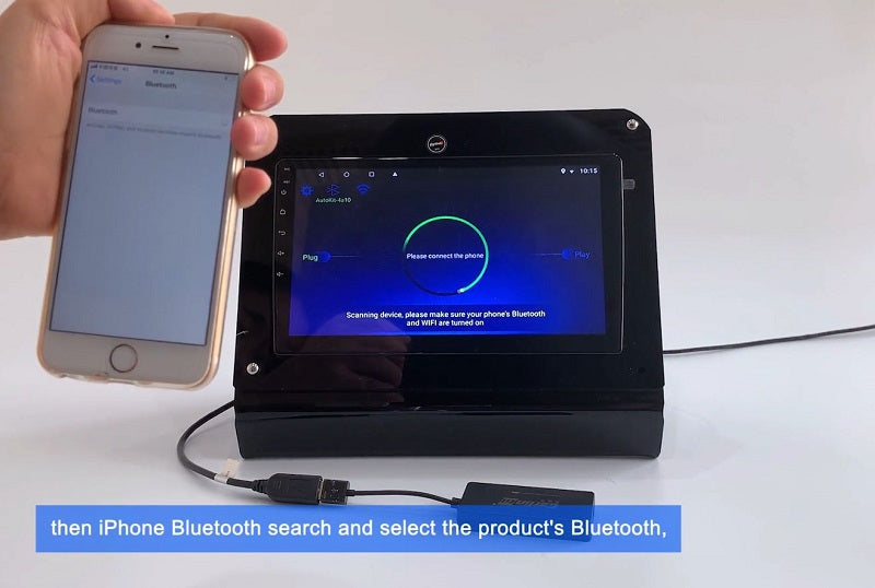 4. Then iPhone Bluetooth search and select the product's Bluetooth