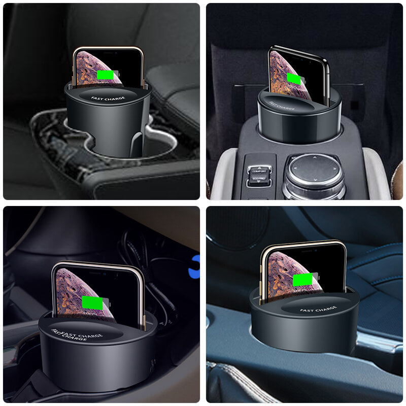 The Charger Cup is designed to be compatible with most cars with water cup hold. If your car has a small water cup hold, use it with the base.