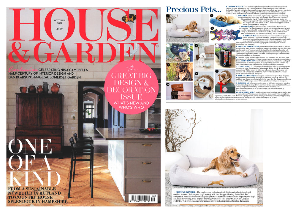 House & Garden Feature   October 2021 - Chasing Winter