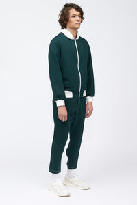 TYRONE PINTUCK PANT - FORREST GREEN