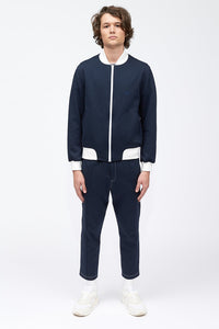 TYRONE PINTUCK PANT - NAVY