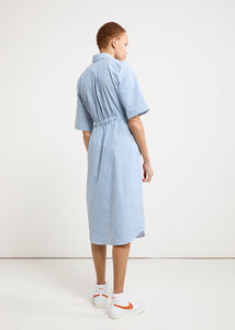 SHARON SHIRT DRESS - BLUE/WHITE