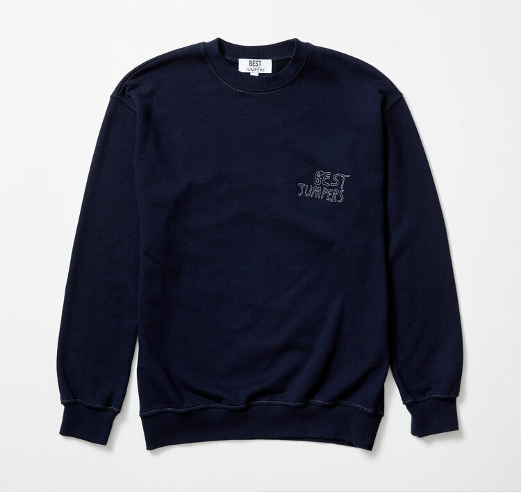 BEST JUMPERS DOT LOGO CREW - NAVY