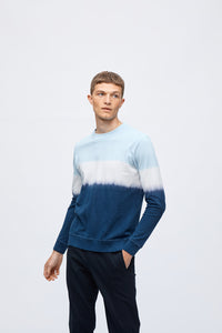 PETE PIQUE LONG SLEEVE - LIGHT BLUE/NAVY
