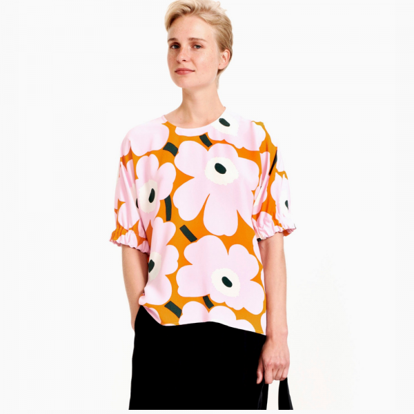 Pokkari Unikko Shirt Rosa/Orange