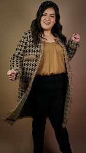 Gabrielle Tweed Knit Cardigan