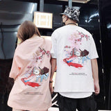 T-shirt Japonais Chat Guerrier