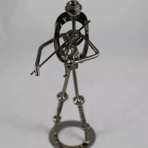 Metal music figure ornament
