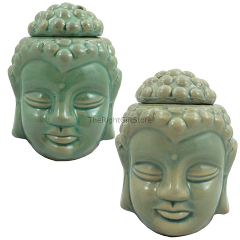 Ceramic Buddha Head Oil Burner