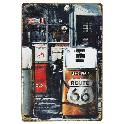 Route 66 American Highway  Retro Metal Wall Plaque 15x21cm