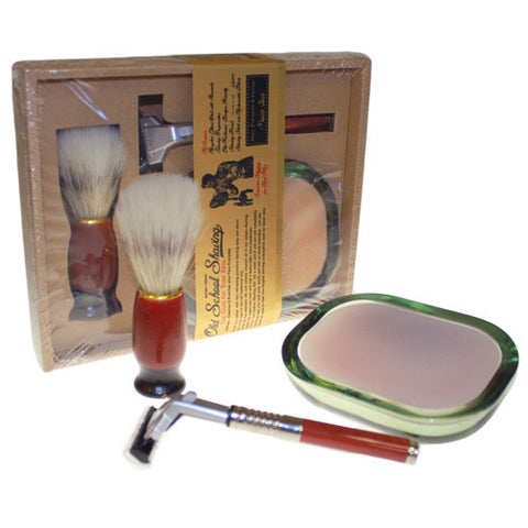 Men's Old School Shaving Kit - Geranium & Lime