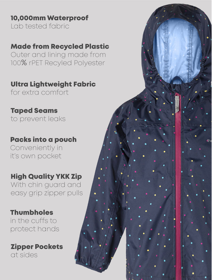 10K Packaway Rainshell - Multi Dot | Waterproof Windproof Eco
