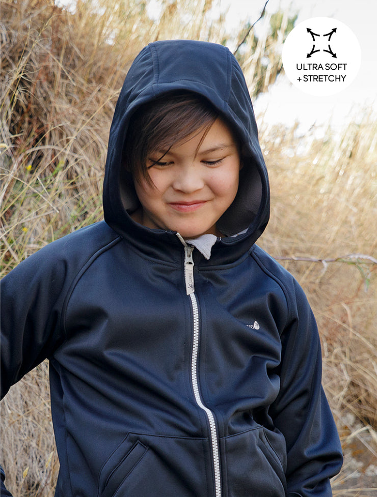 All-Weather Hoodie - Black | Waterproof Windproof Eco