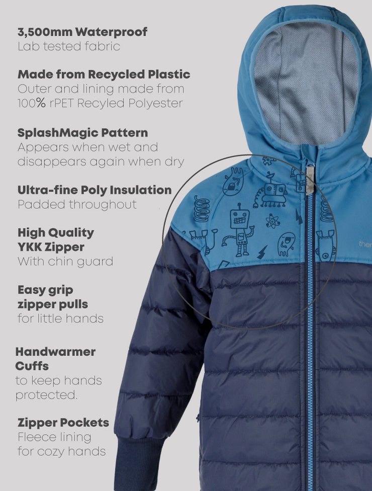 Hydracloud Puffer Jacket - Denim Blue | Waterproof Windproof Eco
