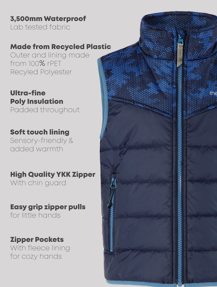 Hydracloud Puffer Vest - Navy | Waterproof Windproof Eco