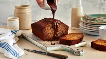 Banana bread with luscious pockets of Broma chocolate
