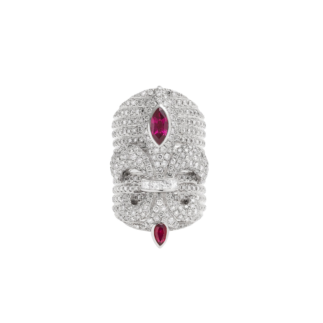 Chouchane Ring XL Ruby
