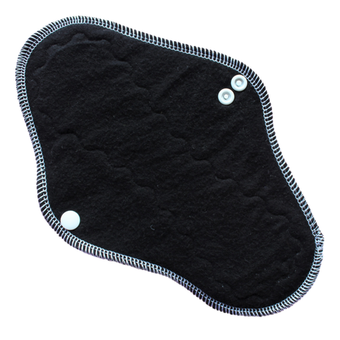 Black Cotton Flannel Moderate Pad