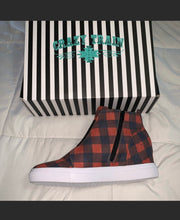 Load image into Gallery viewer, PLAID & SIMPLE SNEAKER hidden WEDGE BUFFALO PLAID