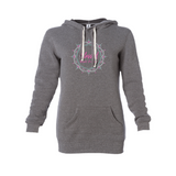 Women's Long Sleeve Hooded Pockets Pullover Hoodie Dress Tunic Sweatshirt - Zayra Mo