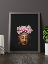 Buddha with roses flowers crown Photography - Limited Series - Zayra Mo